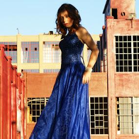 Blue Dress by Kevin Sullivan - People Portraits of Women ( fashion, dress )