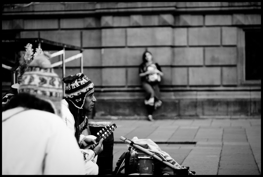 Street Music, Mexico City by Anand Gopal - People Musicians & Entertainers ( music, mexico, street, bw, people )