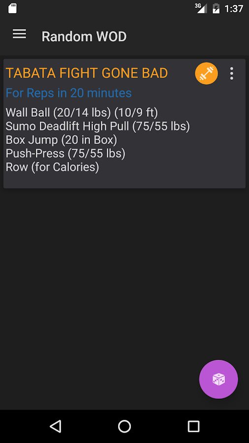 Wodster Crossfit Workouts Screenshot