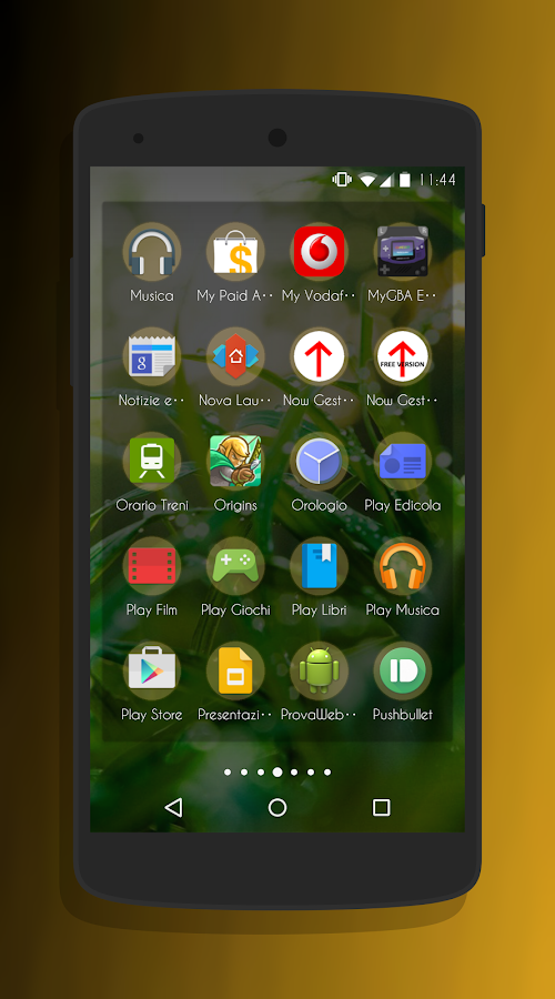 Transparent Gold - CM13 Theme Screenshot 5
