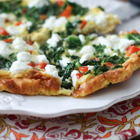 Kale, Red Pepper and Goat Cheese Frittata
