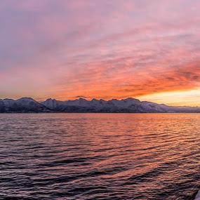 Arctic sunset by Benny Høynes - Landscapes Sunsets & Sunrises ( winter, colorful, sunset, arctic, norway,  )