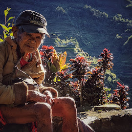 appu by Jerome Mojica - Instagram & Mobile Android ( rice terraces, old, man, ifugao )