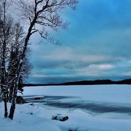 Iced In #clarendonfiltered #docksinwinter #docksinfreezingwater by Debbie Squier-Bernst - Instagram & Mobile iPhone