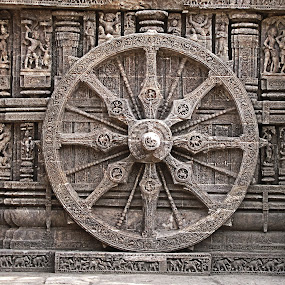 konarak wheel by Abhishek Mandal - Buildings & Architecture Architectural Detail ( india, konarak wheel )