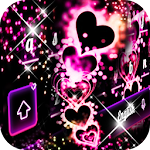 Neon Pink Love Keyboard Icon