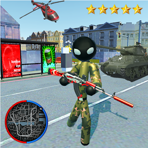 Hero Stickman Rope US Army - FPS Spider Shooter For PC (Windows And Mac)