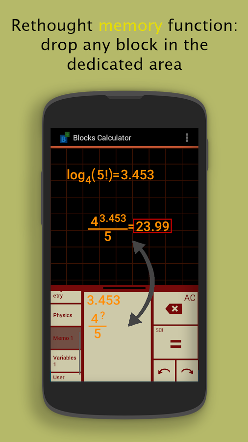 Blocks Scientific Calculator Screenshot 5