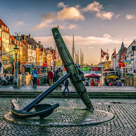 The Memorial Anchor-Nyhavn, Copenhagen by Gabriela Ciobanu - City,  Street & Park  Neighborhoods ( copenhagen, memorial, nyhavn, anchor )