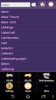 Screenshot of Czech German Dictionary