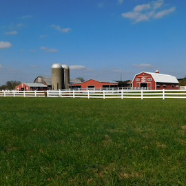 Farm near Jamestown  by TONY LOPEZ - Landscapes Travel ( countryside, farm, red, farmland, country,  )