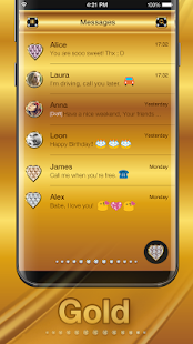 Gold Emoji Keyboard Theme   Android Apps On Google Play