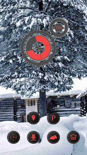 Ice tree snow theme - screenshot