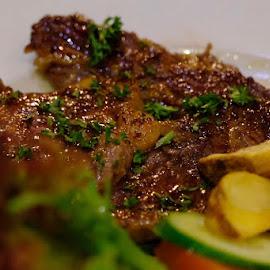 Beef Steak by Beh Heng Long - Food & Drink Plated Food ( food )