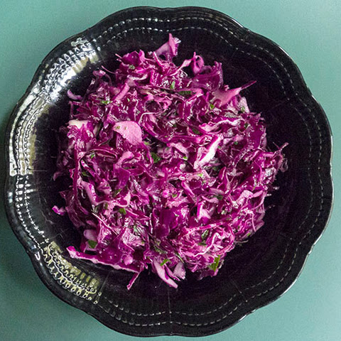 Simple Red Cabbage Salad