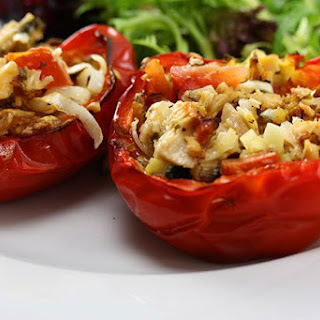 Stuffed Capsicum with Tuna