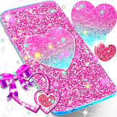 Pink glitter live wallpaper icon
