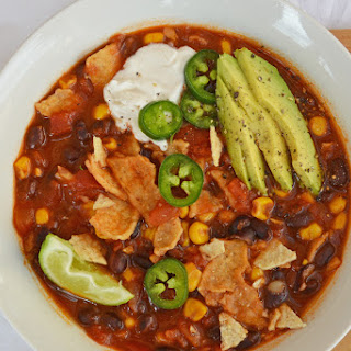 Magical Roasted Corn and Lime Tortilla Soup [Vegan]