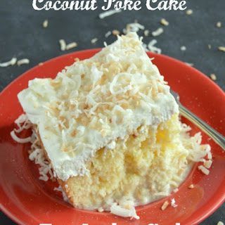 Coconut Poke Cake - Tres Leches Style