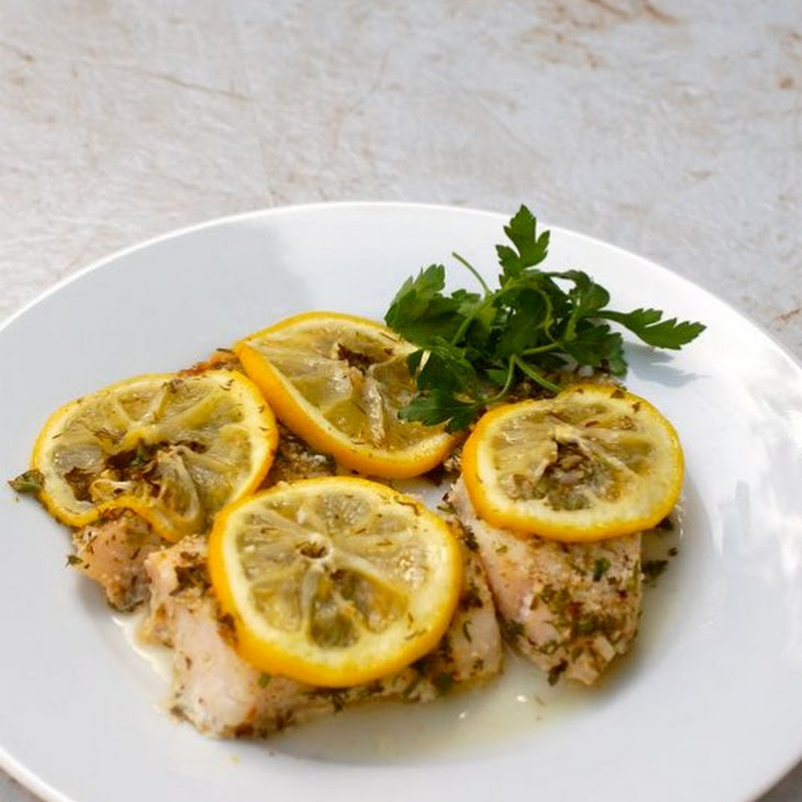 Easy Baked Fish with Lemon and Herbs Recipe | Yummly