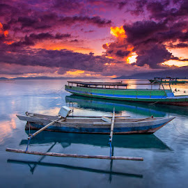 Traditional Couple by Ipin Utoyo - Transportation Boats