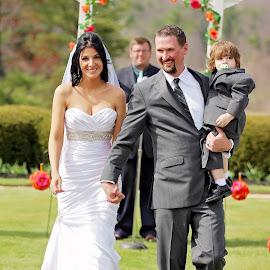 Wedding Day by Tony Bendele - Wedding Bride & Groom ( kiss, wife, outdoors, landscapes, landscape, husband, bride, groom )