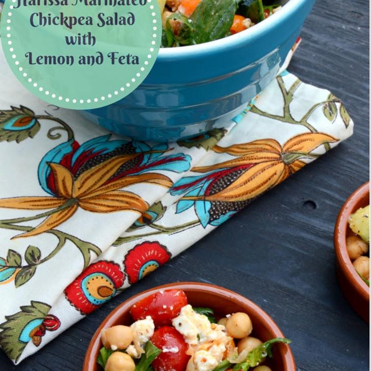 Harissa Marinated Chickpea Salad with Lemon and Feta Recipe | Yummly