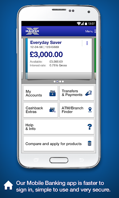 Halifax Mobile Banking app screenshots