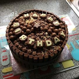 Chocolate birthday cake by Janet Skoyles - Food & Drink Cooking & Baking (  )