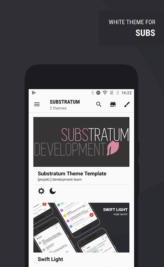 Swift Light Substratum Theme Screenshot 8