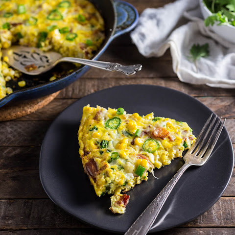 Frittata With Bacon, Corn, and Gruyère