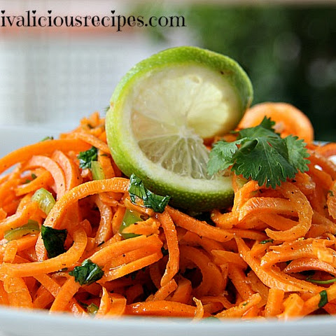 Carrot Noodles with Lime & Chilli