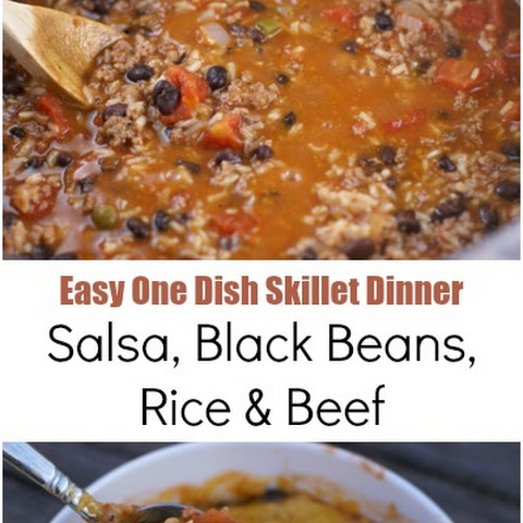 Salsa, Black Bean and Beef Skillet Dinner