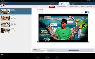 Screenshot of NRJ 12 Tablette