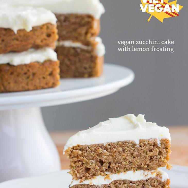 Vegan Zucchini Cake with Lemon Frosting Recipe | Yummly