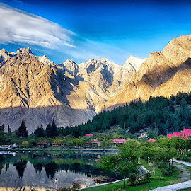 Shangrila  by Abdul Rehman - Instagram & Mobile Android ( clouds, pakistan, mountains, shangrila, lake, landscape, skardu )