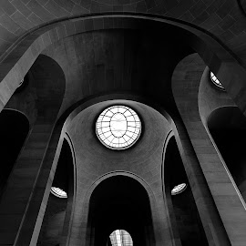 dark curves by Ashleigh Tasker - Buildings & Architecture Other Interior ( interior, louvre, window, inside, arches, white, france, museum, architecture, light, black )