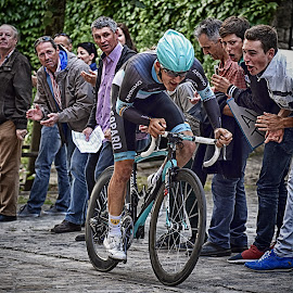 Whipped Up by Marco Bertamé - Sports & Fitness Cycling ( uphill, whipped up, seconds, 2015, prologue, cycling, effort, alone, tour de luxembourg, luxembourg )