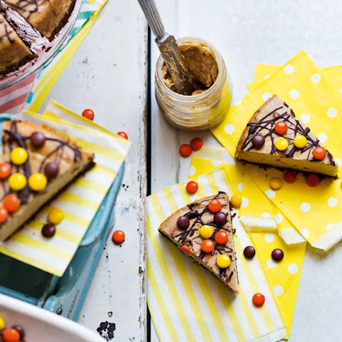 Reese's Pieces peanut butter cheesecake