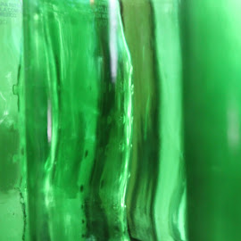 green glass prism by Rachel Seitz - Artistic Objects Glass ( green glass, reflection, textures, lighted glass, prism )