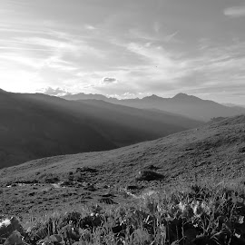 Mountain bnw by Renato Strassmann - Black & White Landscapes ( mountains blacknwhite blackandwhitw nature alpd alp calanda sunset )
