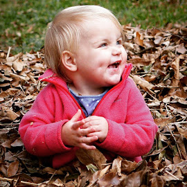 Fun in the leaves by Janice Poole - Babies & Children Toddlers