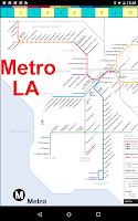 Screenshot of Los Angeles Subway Map