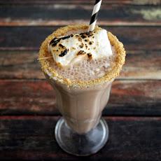 Hazelnut Chocolate S'mores Orange Milkshake