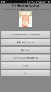 Medicine Cabinet screenshot for Android