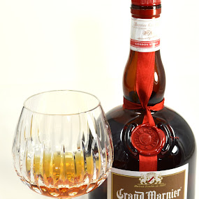 Glass of Grand Marnier by John Ogden - Food & Drink Alcohol & Drinks ( alcohol, booze, cognac, grand marnier, snifter )