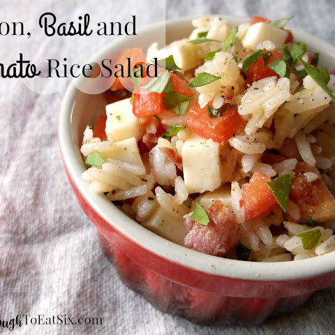 Bacon, Tomato and Basil Rice Salad