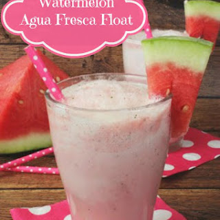 Easy Watermelon Agua Fresca Float