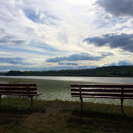 Riverfront by Lan Smith - City,  Street & Park  City Parks ( clouds, sky, nature, park, river )
