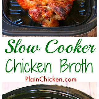 Slow Cooker Chicken Broth